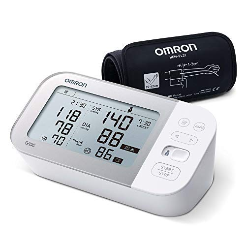 OMRON X7 Smart Misuratore di Pressione da Braccio, Rilevatore di Fibrillazione Atriale, Bluetooth e...