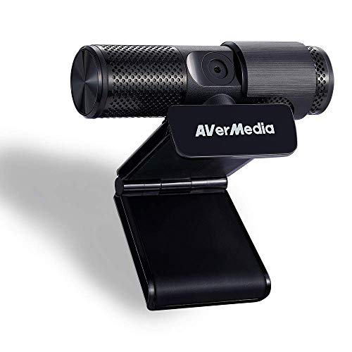 AVerMedia Live Streamer Webcam, Sichtschutzverschluss, FHD 1080p-Videoanruf und -Aufnahme, Plug-and-Play, Zwei Mikrofone, Stream, Game, Klein, Agil, 360-Grad-Schwenkdesign - PW313 (Generalüberholt)