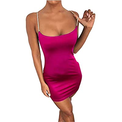 Our dress is made of 95% polyester and 5% spandex. Soft and skin-friendly fabric ensures comfort and no-itch.(NOTE:This is Asian size, pls buy one or two size up) This neon-colored dress is designed with bright color, ruched, and shiny rhinestones sp...