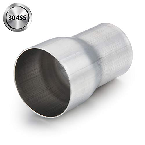 Exhaust Adapter Connector 2' ID to 2.5' ID, A-KARCK Exhaust Pipe Reducer 4' Overall Length 304 Stainless Steel