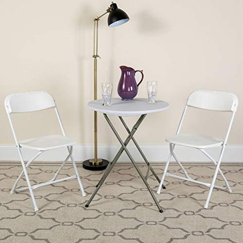 Flash Furniture 10 Pk. HERCULES Series 650 lb. Capacity Premium White Plastic Folding Chair