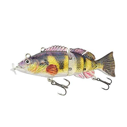 ods lure Robotic Swimming Lure 10 cm Esca Elettrica Ricaricabile USB LED Luce 4 Segmenti Giunti Swimbait Attrezzatura da Pesca (colore 1)