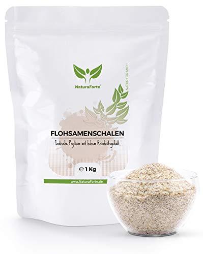 NaturaForte Cáscara de Psyllium Husk 1000g - Vegano - Rico en fibra y mucílago - psyllium sin gluten - psyllium en polvo - Superfood Low-Carb cascara de psyllium