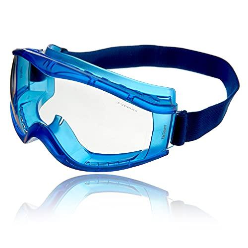 Drger occhiali a mascherina X-pect 8520   Occhiali prottetivi anche per chi porta gli occhiali   Adatto per cantiere e laboratotio   Lente in policarbonato antigraffio e infrangibile   1 pz.