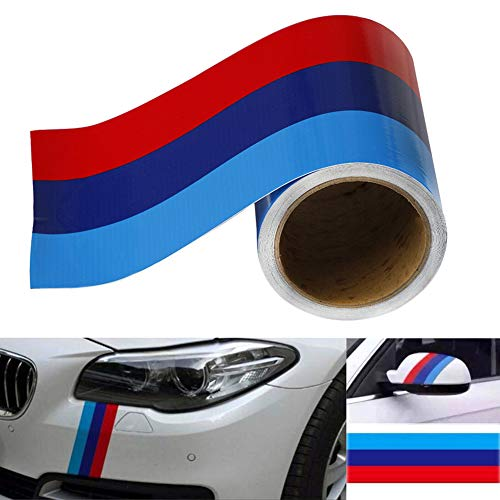 Delleu M-Colored Stripe Sticker car Vinyl Decal For BMW M3 M4 M5 M6 3 5 6 7 Series