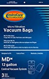 EnviroCare Replacement Vacuum Bags for Modern Day 12 Gallon Central Vacuums 3 Pack