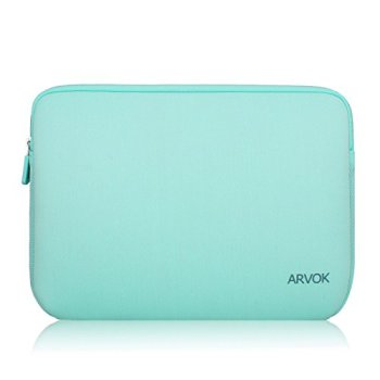 Arvok 17-17.3 Inch Laptop Sleeve Multi-color & Size Choices Case/Water-resistant Neoprene Notebook Computer Pocket Tablet Briefcase Carrying Bag/Pouch Skin Cover For Acer/Asus/Dell/Lenovo, Light Green