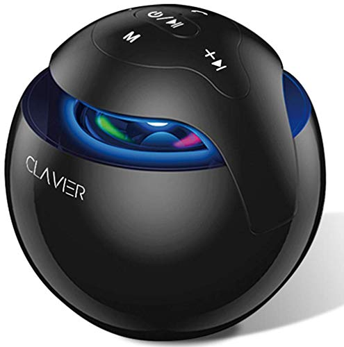 Clavier Fusion Portable Bluetooth Speaker, Bluetooth 5.0 Wireless Speakers with HD Sound and Rich Bass, 8H Playtime, Built-in Mic for iPhone & Android, Black