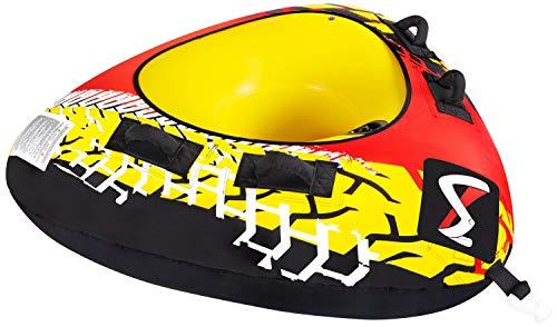 MESLE Tube Delta 56\'\', Towable-Tube, 1 Person, Fun-Tube, 142 cm Triangel Wasser-Reifen für Kinder & Erwachsne, Wassersport