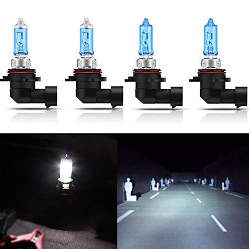 CK Formula (Pack of 4 Pieces) 9006-HB4 9005-HB3 100 Watt Super White 5000K Xenon Halogen Headlight Bulbs (High/Low Beam) USA Seller