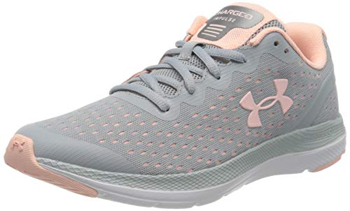 Under Armour UA GS Charged Impulse, Zapatillas de Running Unisex Niños, Gris (Mod Gray/Peach Frost/Peach Frost), 40 EU