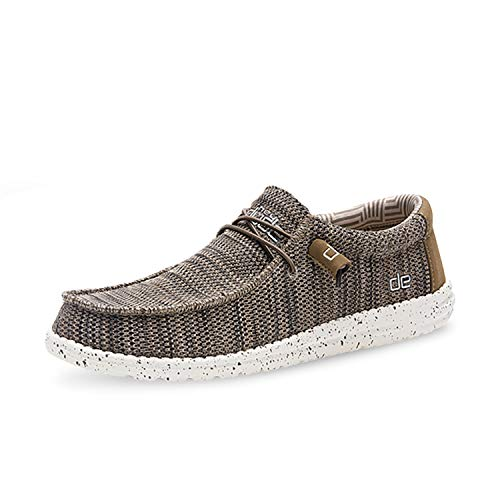 Hey Dude WALLY CLASSIC Mens Wide Fit Shoes Chocolate 41