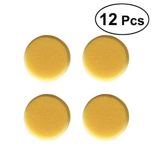 Rosenice - Runder Malschwamm für Kinder, Farbe Gelb (12 Stück)