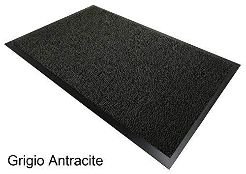 CASA TESSILE Nevada Zerbino Tappeto asciugapassi - Grigio Antracite, 90x120 cm.