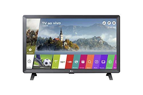 LG 24TL520S Smart TV Monitor 24' LED Wi-Fi WebOS 3.5 DTV Time Machine Ready, Preto