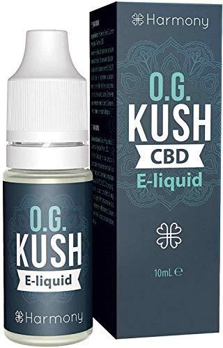 Harmony - Og Kush | 10ml | 100mg CBD | 80PG/20VG | (MAS DE 99% PUREZA) Sin Nicotina | E-Liquido para Cigarrillos Electrónicos - E LÍquidos para Vaper
