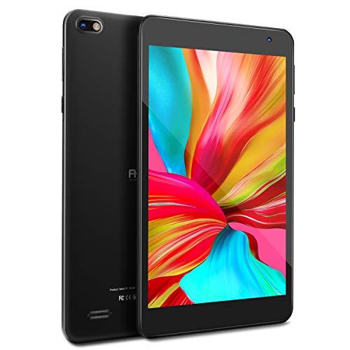 Tablet 7 pollici FHD, 1080P IPS Touch Screen, Android 10 Tablet, 2GB RAM, 32 GB di archiviazione, Processore Quad-Core, Wi-Fi, Bluetooth, Schermo con Filtro per la Protezione della Luce Blu (Nero)