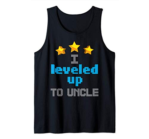 Funny I Leveled Up To Uncle | Cute Future Gamer Quote Gift Tank Top