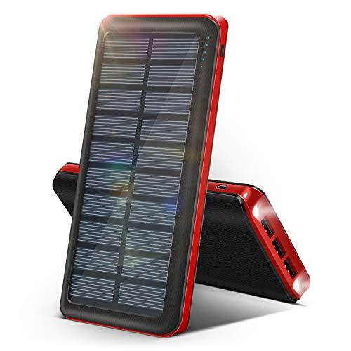 RUIPU Powerbank Solare 26800 mAh 【L'Ultimo Caricabatterie Solare Portatile del 2020】 Grande...