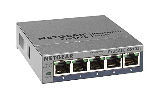 Netgear GS105Ev2 Smart Managed Plus Switch, 5...