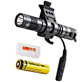 Nitecore MH12 1000 Lumens Rechargeable LED Tactical Flashlight, Offset Rifle Mount, Remote Pressure Switch and LumenTac Organizer