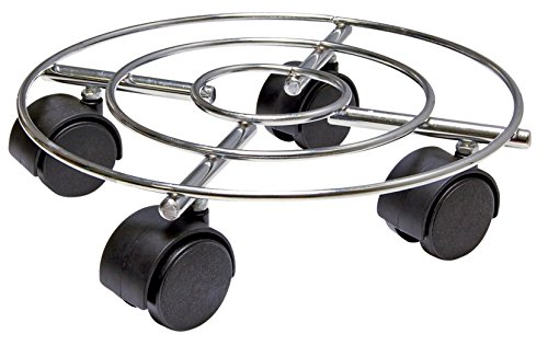 WAGNER Pflanzenroller - DRAHT - Stahl, verchromt, Durchmesser 23 x 6,3 cm, Tragkraft 60 kg - 20093101