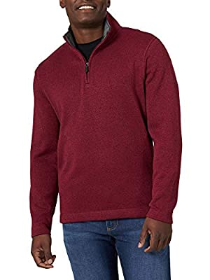 RELAXED FIT. Built with room through the torso, this quarter zip fleece is designed to keep you comfortable and warm on those cooler days. VERSATILE DESIGN. This men's fleece sweater is perfect for any occasion. Designed for versatility, this cool-we...