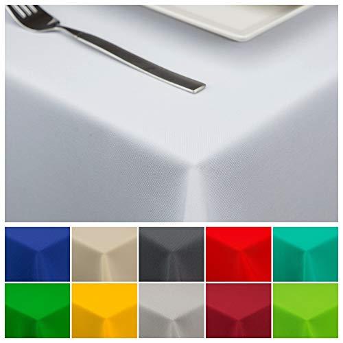 StoffTex Tischdecke Tischläufer Tischtuch Tischwäsche Tischdekoration Tafeltuch (Weiß, 120 x 220 cm)