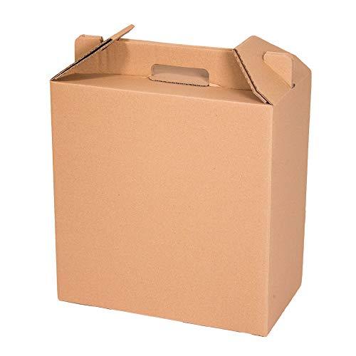 ONLY BOXES | Caja para Vino | Estuche de 6 Botellas de Vino | Caja para Lote de Navidad | Color marrón | 4 Unidades
