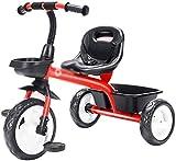 Xiaoyue Vélos Tricycle Pratique d'intérieur for Les Enfants Self Enfants Ménage Chariot Tricycle (Couleur: Jaune, Taille: 74x50x60cm) lalay (Color : Red, Size : 74x50x60cm)