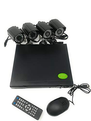 TIEMPO DE VENTA Kit de cámaras de vigilancia de 4 canales Cámaras infrarrojas Fuentes de alimentación Dvr Extensiones