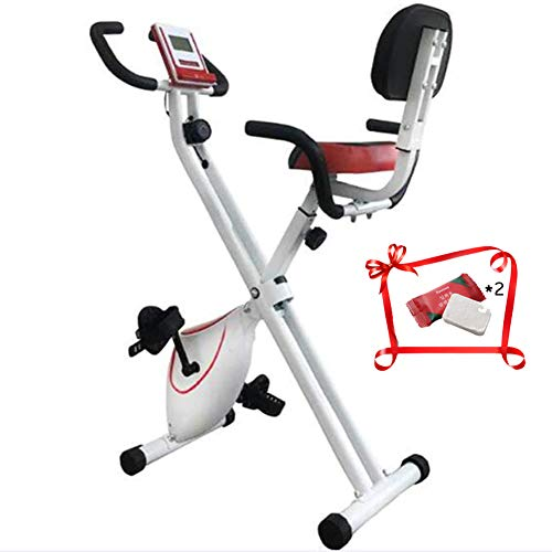 QLGRXWL Bicicleta estática, Home Trainer con Respaldo, Plegable,