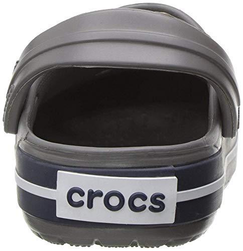 Crocs Kids' Crocband Clog, Smoke/Navy, 13 Little Kids