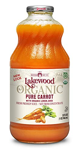 Lakewood Organic PURE Carrot Juice, 32-Ounce Bottles (Pack...