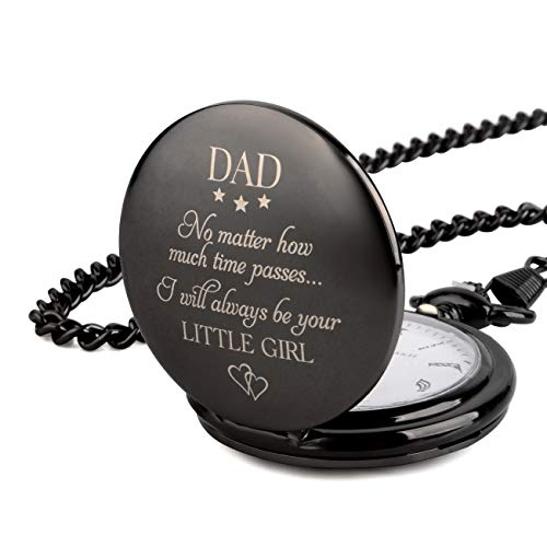 "Gifts for Dad from Daughter I Dad Gifts from Daughter -""I Will Always be Your Little Girl"" Pocket Watch I Dad Birthday Gifts from Daughter I Father Daughter Gifts I Gift for Daddy from Daughter"