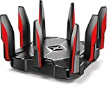 TP-Link AC5400 Tri Band WiFi Gaming Router(Archer C5400X) – MU-MIMO Wireless Router, 1.8GHz Quad-Core 64-bit CPU, Game First Priority, Link Aggregation, 16GB Storage, Airtime Fairness