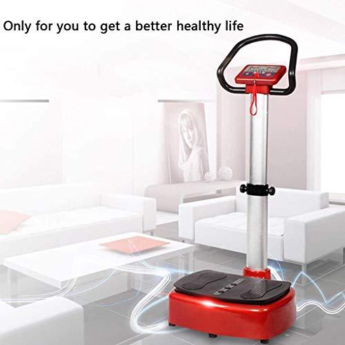 Lamyanran Professional Vibration Platform Exercise Machine, Intelligent Vitality Aerobic Health Exercise Machine, Passive Vibration Fat Reduction Machine, Exercise Equipment (Size : Black red) 6
