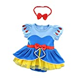 Lito Angels Baby Girls Princess Costume Onesie Romper Bodysuit Halloween Christmas Dress Up Size 12-18 Months Snow White