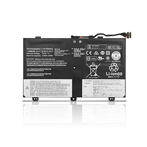 ZTHY New 00HW000 00HW001 Laptop Battery Replacement for Lenovo ThinkPad S3 Yoga 14 Series Notebook SB10F46438 SB10F46439 4ICP7/52/76 15.2V 3.69Ah 56Wh