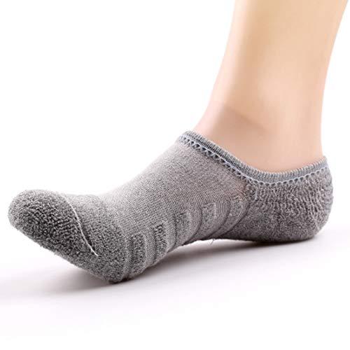 GCBTECH, calzini sportivi, da donna, calzini a quadri, suola in spugna, antiscivolo, in cotone nero...