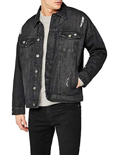 Urban Classics Herren und Jungen Jeansjacke Ripped Denim Jacket,...