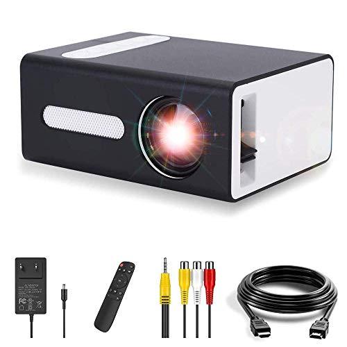 Projecteur Pro, Mini projecteur Portable OOTOMI pour Mobile Compatible avec USB HDMI TF AV 3.5mm Prise Casque, Cadeau pour Enfants
