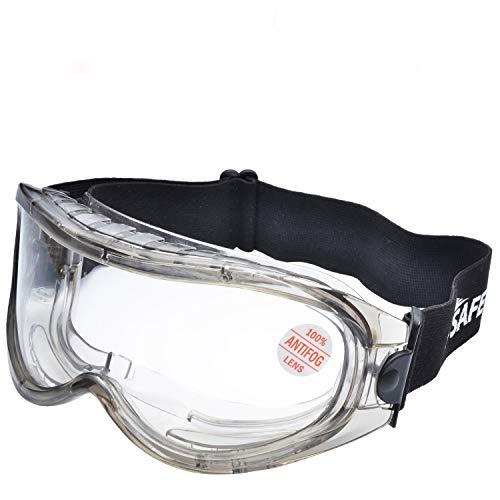 SAFEYEAR Occhiali Protettivi da Lavoro Antigraffio - SG007 Antiappannamento Occhiali Protezione Antiappanno Trasparente Laboratorio Chimico e Antigraffio Gioco Graduati Donna da Vista Antipolveri