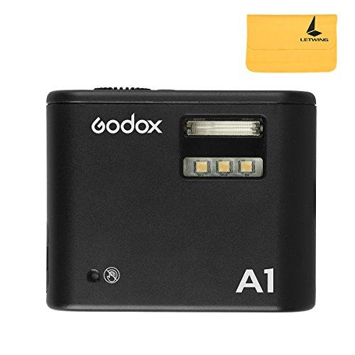 Godox A1スマート フォンフラッシュ 内蔵2.4Gワイヤレスシステムフラッシュトリガーバッテリー付きLEDライトiPhone 6s / 6s plus / 7/7 plus用 色温度 6000±200K