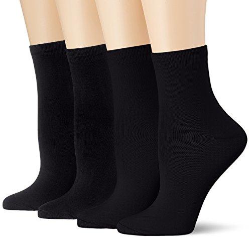 DIM Socquette Skin 3+1 Gtt Calze, Nero (Noir/Noir/Noir/Noir), Unica (Taglia Produttore: TU) (Pacco...