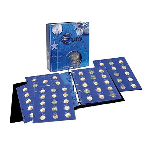 SAFE 7302 Volume 2 raccoglitore monete 2 euro 2012-2015 Europa in capsule | 9 fogli portamonete da collezione inclusi | 250 x 230 x 80 mm