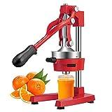 VIVOHOME Heavy Duty Commercial Manual Hand Press Citrus Orange Lemon Juicer Squeezer Machine Red FDA Approved