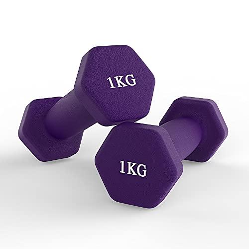 hoinya Neopren Hantel, Handgewichte Hanteln für Home Gym Übungen, Bodybuilding Training, Muskelaufbau 2 x 1...