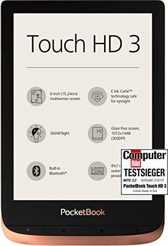 PocketBook e-Book Reader \'Touch HD 3\' (16 GB Speicher; 15,24 cm (6 Zoll) E-Ink Carta Display; SMARTlight; Wi-Fi; Bluetooth) in Kupfer