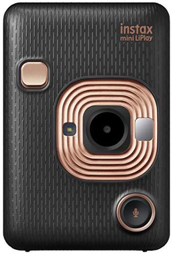 FUJIFILM チェキ インスタントカメラ/スマホプリンター instax mini LiPlay エレガントブラック INS MINI HM1 ELEGANT BLACK